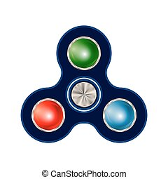 Spinner isolated on white background