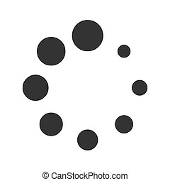 Spinner of dots icon