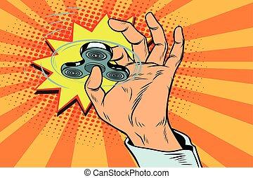 spinner, rotação, fidget, mão