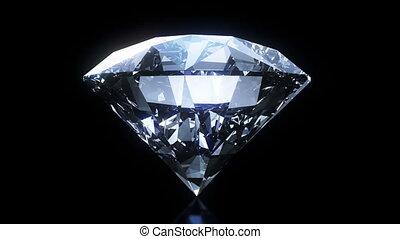 Spinning and shining diamond