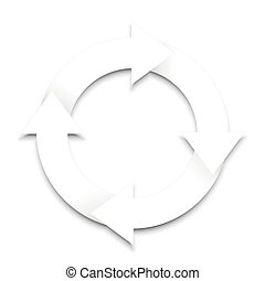 Spinning Arrows On White Background - Spinning arrows with...