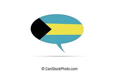 Bahamas Flag Speech Bubble - Spinning Bahamas Flag Speech...