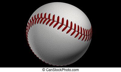 Spinning baseball ball