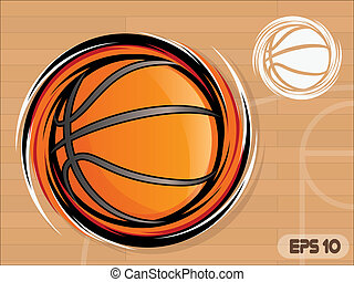 Basketball Icon - Spinning Basketball Icon/Basketball Team...