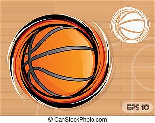 Basketball Icon - Spinning Basketball Icon/Basketball Team...