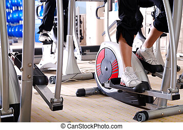 spinning bike in a gym