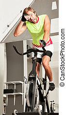 spinning bike tired sweating