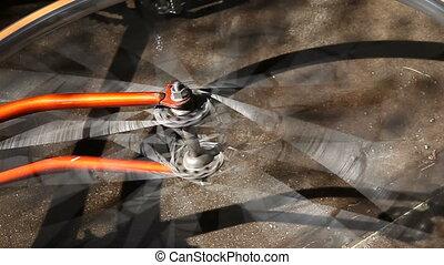 spinning bike wheel