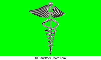 Spinning Caduceus (HD Video) - (Stock Video 1080 HD.) 16...