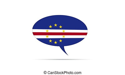 Cape Verde Flag Speech Bubble - Spinning Cape Verde Flag...
