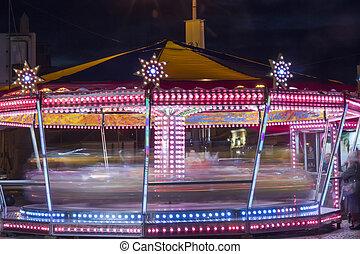 Spinning carousel lights