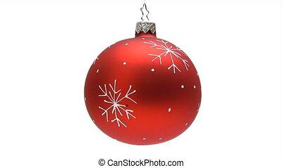 Spinning Christmas Ball - Canon HV30. HD 16:9 1920 x 1080 @...