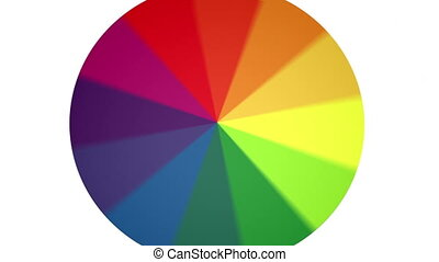 Spinning Color Wheel Contains Loop - An RYB color wheel...