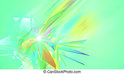 """""""Spinning Colorful Triangles in Salad Backdrop"""""""