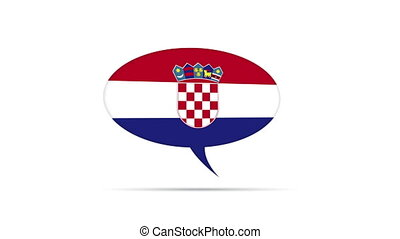 Croatia Flag Speech Bubble - Spinning Croatia Flag Speech...