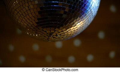 Spinning disco ball