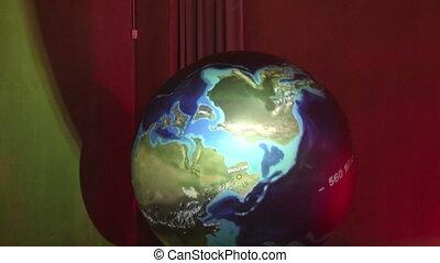 spinning earth globe