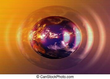 Spinning Earth In A Golden Glow