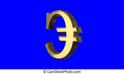 Spinning Euro Sign Screen