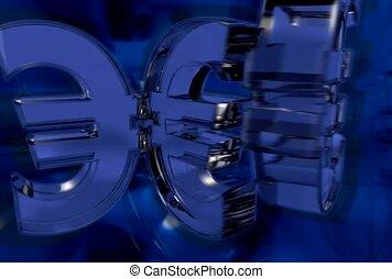 Spinning Euro Symbol