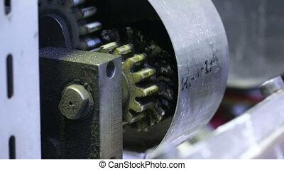 spinning gear. mechanism