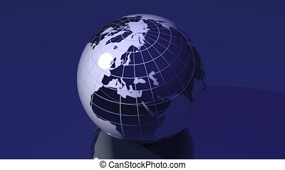 Spinning Globe - Loopable - A loopable turning globe. 3D...