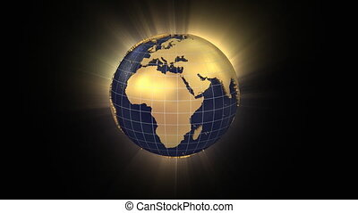 Spinning globe unfolds into European Union