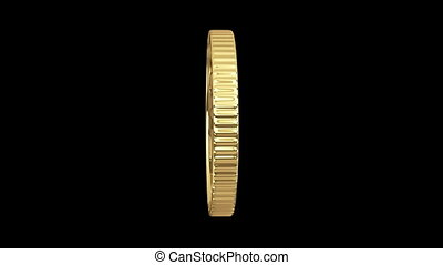 spinning golden euro coin