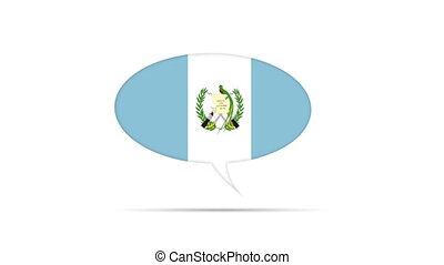 Guatemala Flag Speech Bubble - Spinning Guatemala Flag...