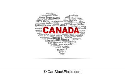 I Love Canada - Spinning I Love Canada Heart