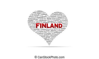 I Love Finland - Spinning I Love Finland Heart