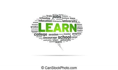 Learn - Spinning Learn Speech Bubble
