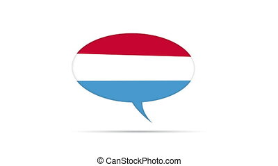 Luxembourg Flag Speech Bubble - Spinning Luxembourg Flag...