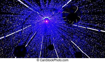 Spinning magical Christmas light