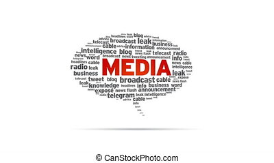 Spinning Media Speech Bubble