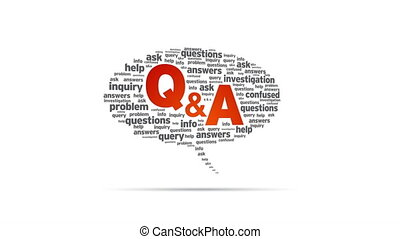 Question and Answers - Spinning Question and Answers Speech...