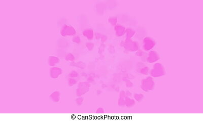 Spinning rose petals - Graphical spinning rose petals spread...