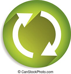 Spinning, rotating arrows in circle for rotation, circular...