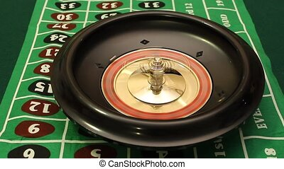 roulette wheel - spinning roulette wheel stops and the ball ...