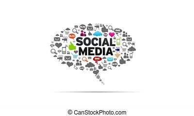 Spinning Social Media Speech Bubble.