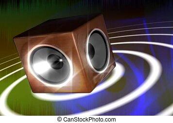 Spinning Speaker