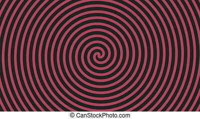 Spinning Spiral Abstract Motion Background. Seamless loop