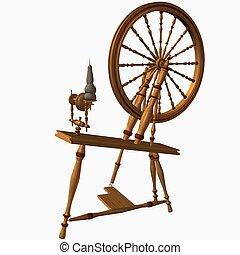 Spinning Wheel - 3D Render