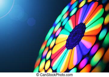 Spinning wheel blur