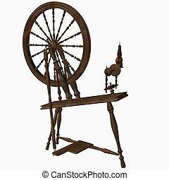 Spinning Wheel Dark - 3D Render