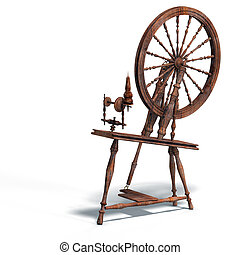 spinning wheel - rendering of spinning wheel with Clipping...
