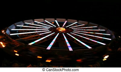 Spinning wheel in amusement park
