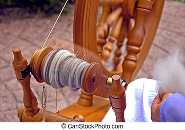 Spinning Wheel in Motion - This is a closeup of a spinning ...