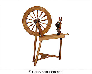spinning wheel isolated on white