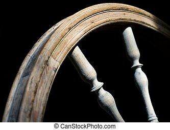 Spinning wheel - Close up of spinning wheel